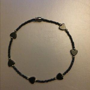 Jewelry - Heart beaded ankle bracelet
